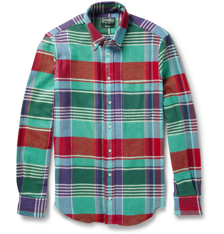 Gitman Vintage Plaid Brushed Cotton-Twill Shirt