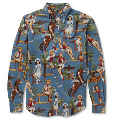 Gitman Vintage Slim-Fit Printed Cotton Shirt
