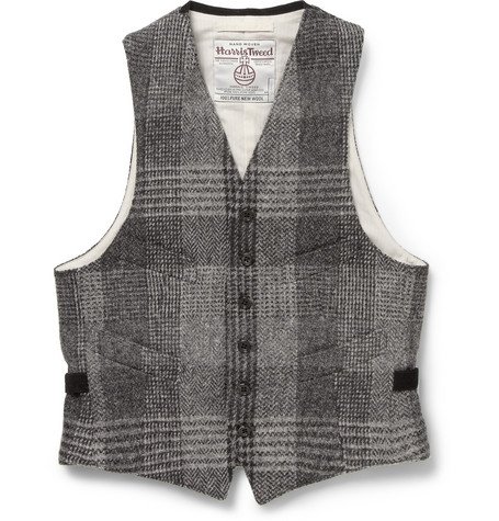 Beams Plus Slim-Fit Wool Harris Tweed Waistcoat