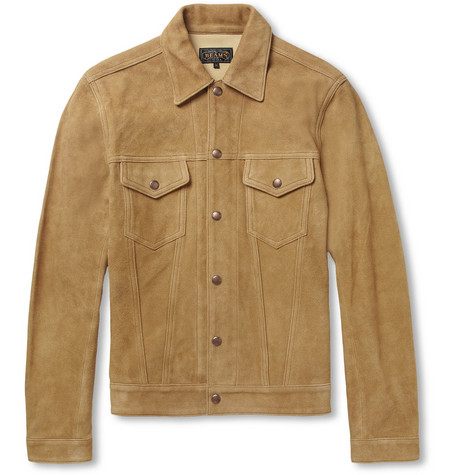 Beams Plus Slim-Fit Suede Jacket