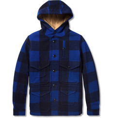 Beams Plus Buffalo Check Wool-Melton Coat