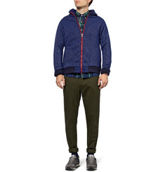 Beams Plus Fleece-Lined Jersey Bomber Jacket