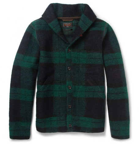 Beams Plus Plaid Wool-Blend Jacket