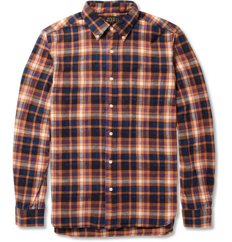 Beams Plus Plaid Cotton-Flannel Shirt