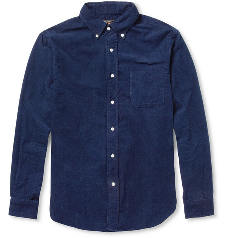 Beams Plus Button-Down Collar Fine Corduroy Shirt