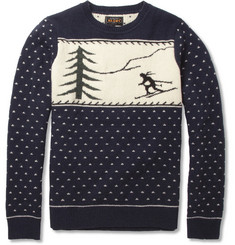 Beams Plus Ski Intarsia Wool-Blend Sweater