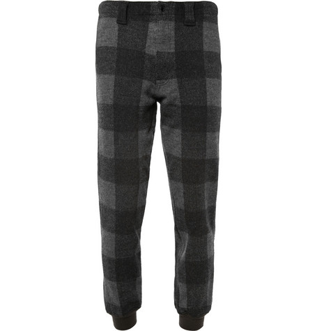 Beams Plus Regular-Fit Check Wool Trousers
