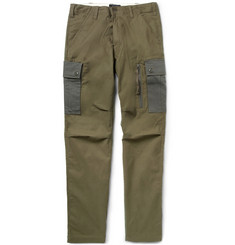 Beams Plus Relaxed-Fit Panelled Cotton-Blend Cargo Trousers