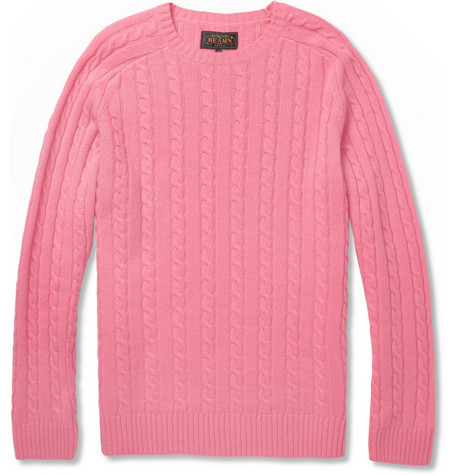 Beams Plus Cable-Knit Cashmere Sweater