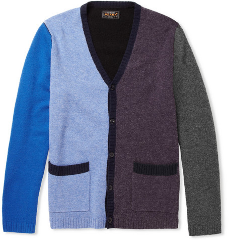 Beams Plus Panelled Wool-Blend Cardigan