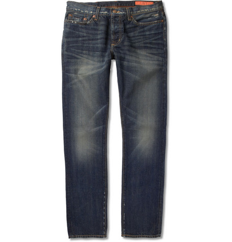 Jean Shop Straight-Fit Washed Selvedge Denim Jeans