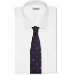 Beams Plus Skier-Embroidered Silk Tie