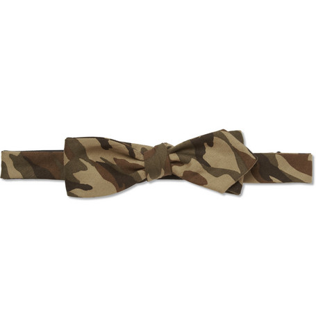 Beams Plus Camouflage-Print Cotton Bow Tie