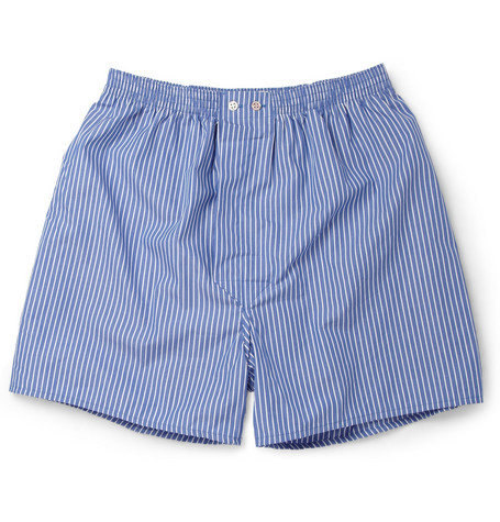 Derek Rose York Striped Cotton Boxer Shorts