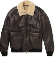 Lot78 Shearling Bomber Jacket