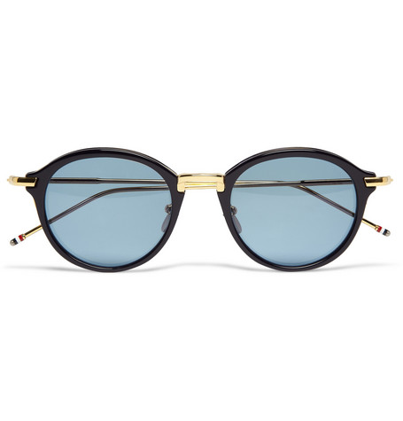 Thom Browne Gold and Acetate Round-Frame Sunglasses