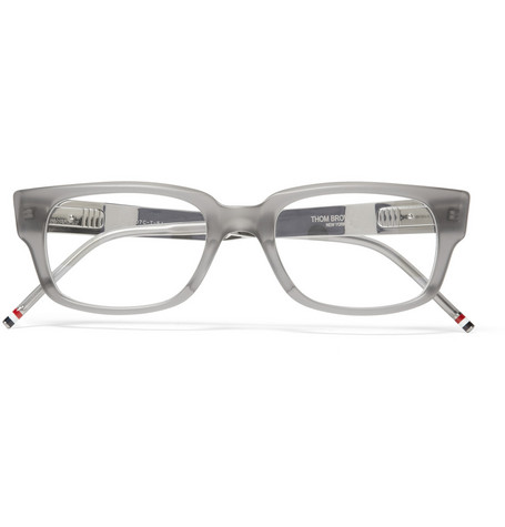 Thom Browne Rectangular-Frame Acetate Optical Glasses