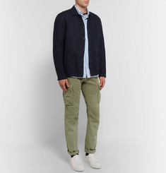 Incotex Incotex Slim-Fit Cotton and Linen-Blend Cargo Trousers