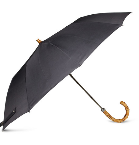 London Undercover Collapsible Bamboo-Handle Umbrella