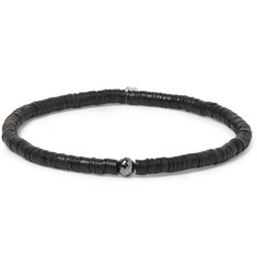 Yuvi Black Diamond, Sterling Silver and Vinyl Bracelet