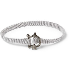 Yuvi Sterling Silver, Diamond and Woven Cord Bracelet