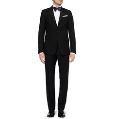 Brioni White Wing-Collar Cotton Tuxedo Shirt