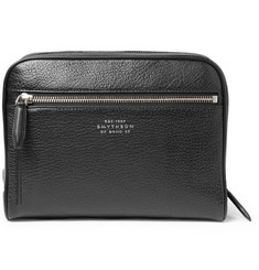 Smythson Full-Grain Leather Wash Bag