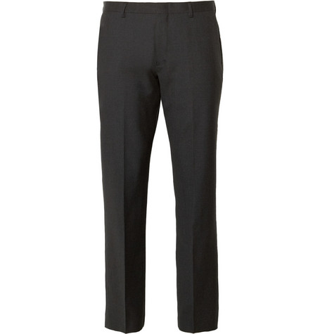 J.Crew Grey Ludlow Wool Suit Trousers