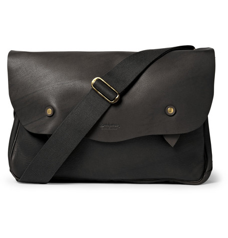 Bill Amberg Hunter Textured-Leather Messenger Bag