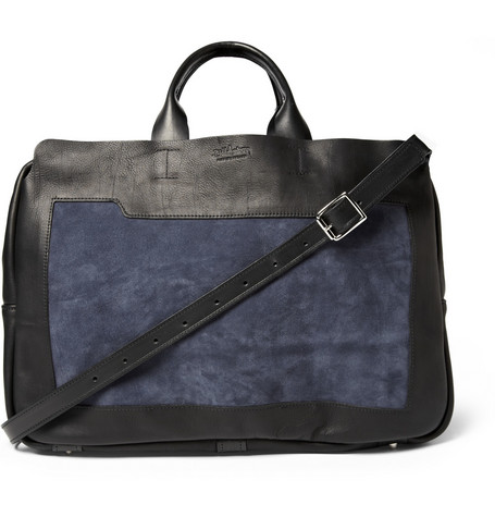 Bill Amberg Explorer Leather and Suede Holdall Bag