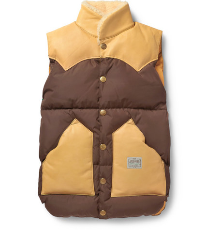 Neighborhood Rocky Mountain Featherbed Shearling-Collar Down-Filled Gilet