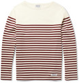 Neighborhood - Boat-Neck Striped Cotton-Jersey T-Shirt