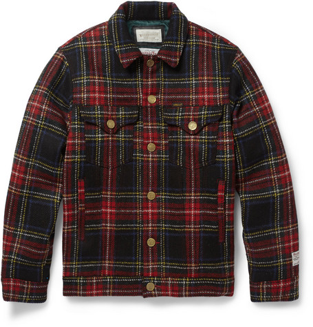 Neighborhood Plaid Wool Bomber Jacket