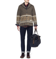Neighborhood Patterned Quilted Wool-Blend Jacket