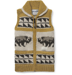 Neighborhood Kanata Chunky-Knit Wool Sleeveless Cardigan