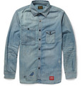 Neighborhood - Distressed Washed-Denim Shirt