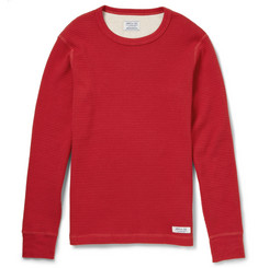 Neighborhood Long-Sleeved Waffle Cotton-Jersey T-Shirt