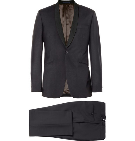 Spencer Hart Navy Shawl-Collar Wool-Blend Tuxedo