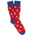 Corgi - Corgi-Patterned Cotton-Blend Socks