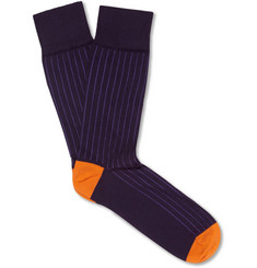Corgi Ribbed Cotton-Blend Socks