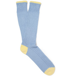 Corgi Thick Ribbed-Knit Cotton Socks