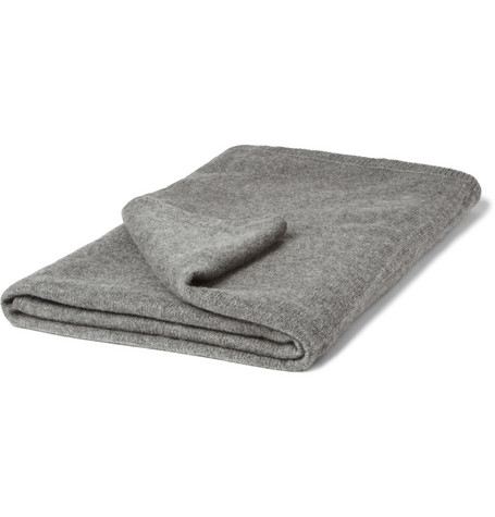 Armand Diradourian Cashmere Travel Blanket with Pouch
