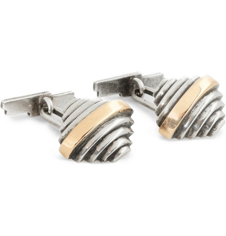 Foundwell Stepped Silver Cufflinks