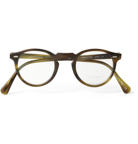 Oliver Peoples Gregory Peck Tortoiseshell Acetate Optical Glasses