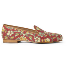 Stubbs & Wootton Tapis Rouge Needlepoint Slippers