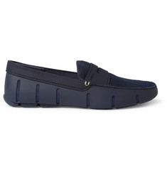 SWIMS Rubber and Mesh Penny Loafers