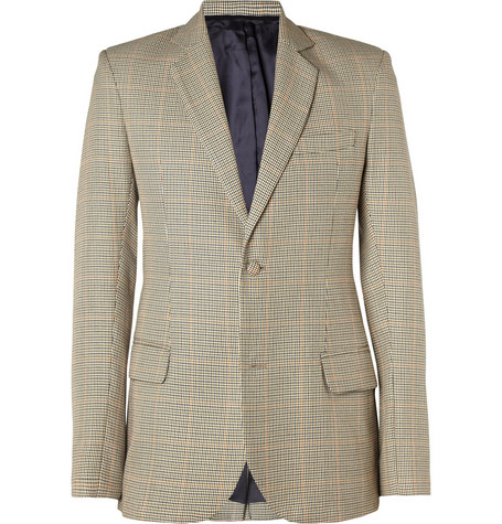 London Collections. Men Agi & Sam Slim-Fit Houndstooth Check Wool Blazer
