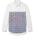 London Collections. Men Agi & Sam Panelled Cotton Shirt