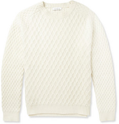 Sandro Patterned-Knit Wool Sweater