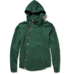 Balmain Button-Embellished Cotton-Jersey Hoodie